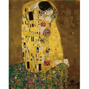 Поцелуй Густав Климт Раскраска (картина) по номерам акриловыми красками на холсте Menglei