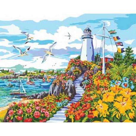 Рай на побережье Раскраска картина по номерам акриловыми ...