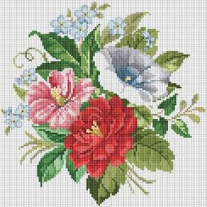 Искрящийся букет Алмазная вышивка (мозаика) Белоснежка | Картины алмазной мозаики купить