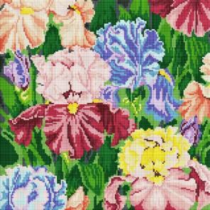 Ирисы Алмазная вышивка мозаика на подрамнике Белоснежка