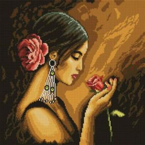 Испанская красавица Алмазная вышивка мозаика на подрамнике Белоснежка