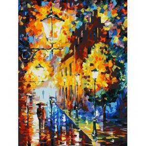 Огни в ночи Раскраска картина по номерам акриловыми красками на картоне Белоснежка