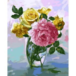 Нежный букет Раскраска картина по номерам акриловыми красками на холсте | Картина по номерам купить