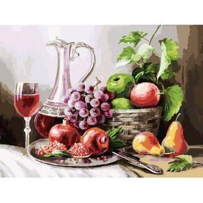 129-AS Натюрморт с фруктами Раскраска картина по номерам акриловыми красками на холсте Белоснежка