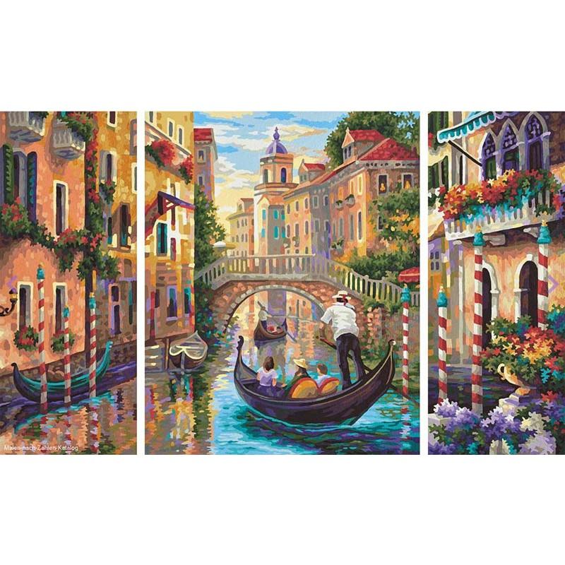 Венеция - город в Лагуне Триптих Раскраска по номерам ...