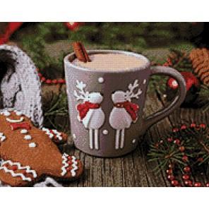 Какао с корицей Алмазная мозаика вышивка Гранни