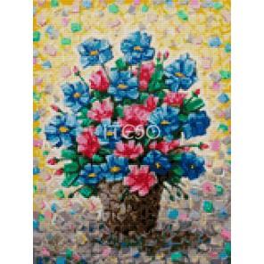 Цветочная мозаика Алмазная мозаика на твердой основе Iteso