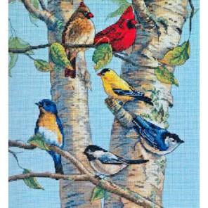 Птички на березе 35252 Набор для вышивания Dimensions ( Дименшенс )