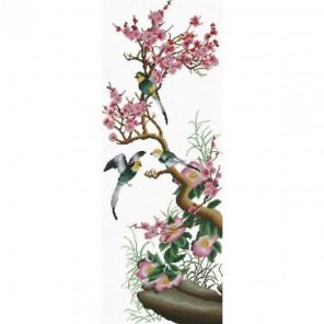 Цветущая сакура Набор для вышивания Белоснежка