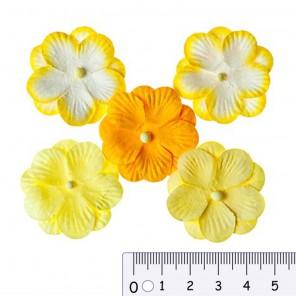 Анютины глазки желтые Цветы бумажные для скрапбукинга, кардмейкинга Scrapberry's