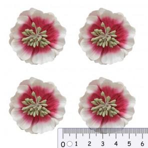 Цветы анемоны красно-белые Цветы бумажные для скрапбукинга, кардмейкинга Scrapberry's