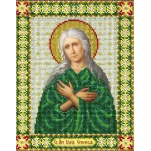 Святая Мария Египетская Набор для частичной вышивки бисером Паутинка