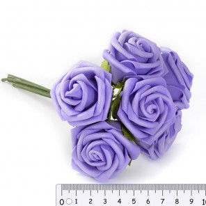 Сиреневые розы Цветы для скрапбукинга, кардмейкинга