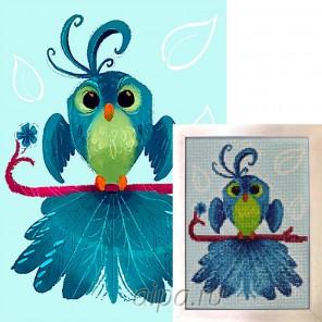 Птица удачи Алмазная вышивка мозаика Гранни