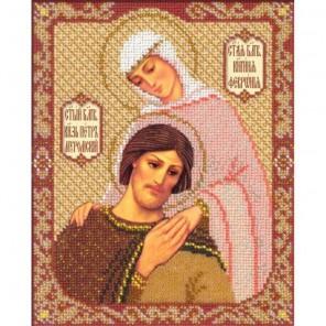 Богородица Владимирская Набор для частичной вышивки бисером Русская искусница