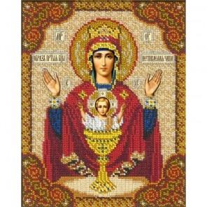 Святой Иоанн Воин Набор для частичной вышивки бисером Русская искусница