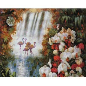 Райский сад Алмазная вышивка мозаика на подрамнике Белоснежка