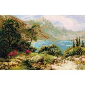 Горное озеро Набор для вышивания Риолис