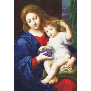 Мадонна с виноградом Пьера Мигнарда Набор для вышивания Золотое Руно