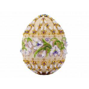 Яйцо. Подснежники Набор для бисероплетения Риолис