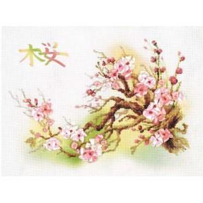 Ветка сакуры Набор для вышивания Риолис