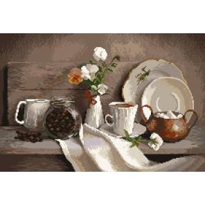 Кофейный аромат Ткань с рисунком Матренин посад