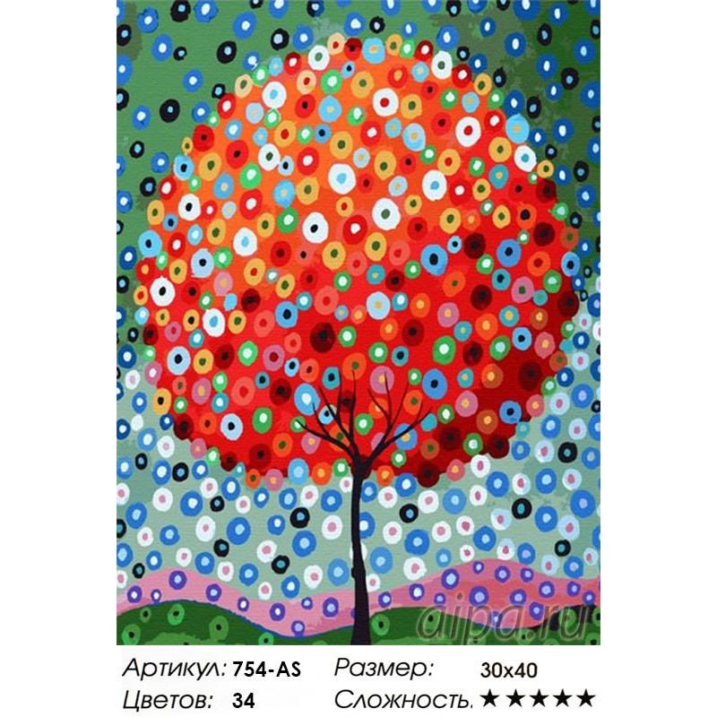 Денежное дерево Раскраска ( картина ) по номерам на холсте ...