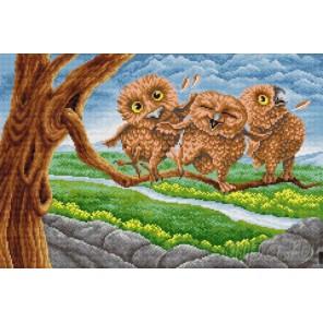 Три совенка Алмазная вышивка мозаика