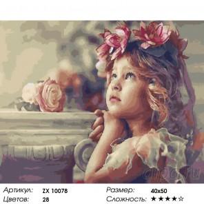 Количество цветов и сложность Детские грезы Раскраска картина по номерам на холсте