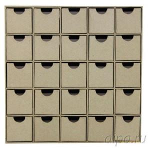 Шкафчик с 25 ящичками Заготовка из папье-маше объемная Decopatch