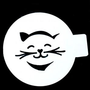 Кошечка с усами Трафарет для кофе и десертов