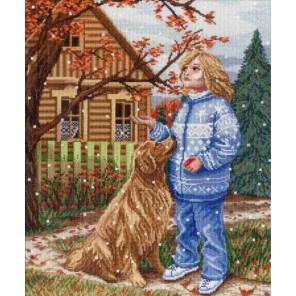 Первый снег Набор для вышивания МП Студия