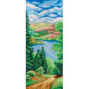 Лес и река Набор для вышивания бисером МП Студия