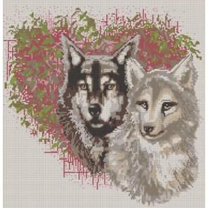 Волки Канва с рисунком для вышивки бисером Конек