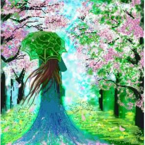 Леди Весна Канва с рисунком для вышивки бисером Конек