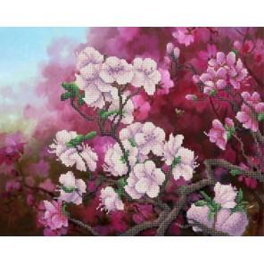 Весенний цвет Канва с рисунком для вышивки бисером Конек