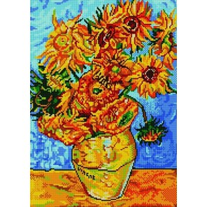 Подсолнухи (Ван Гог) Канва с рисунком для вышивки бисером Конек