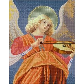 Ангел играющий на виоле Канва с рисунком для вышивки бисером Конек