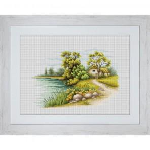 Пейзаж с озером Набор для вышивания Luca-S