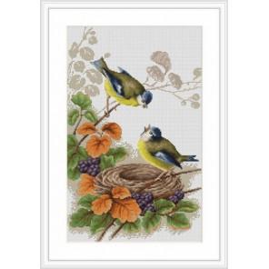Птички у гнезда Набор для вышивания Luca-S