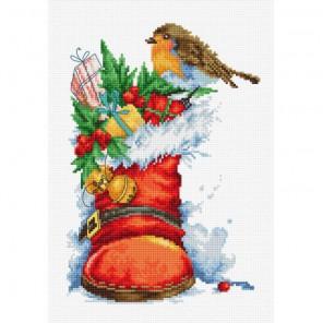 Рождественский сапожок Набор для вышивания Luca-S