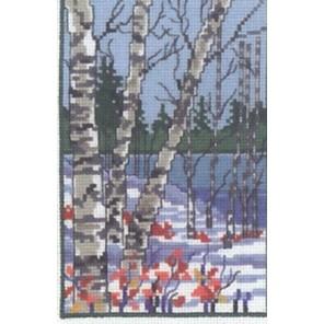 Три березы (зима) Набор для вышивания Permin 92-9129