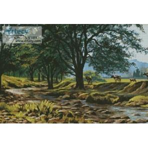 Коровы у ручья Набор для вышивания Kustom Krafts 20557