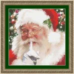 Санта, тссс! Набор для вышивания Kustom Krafts 97647