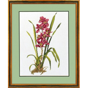 Красная орхидея Набор для вышивания Eva Rosenstand 14-155