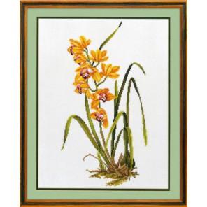 Желтая орхидея Набор для вышивания Eva Rosenstand 14-156