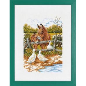 Ослик и гуси Набор для вышивания Eva Rosenstand 14-170