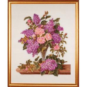 Сирень и розы Набор для вышивания Eva Rosenstand 14-185