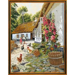 Цветущий деревенский дворик Набор для вышивания Eva Rosenstand 12-710