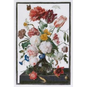 Цветы в стеклянной вазе Набор для вышивания Thea Gouverneur 785A